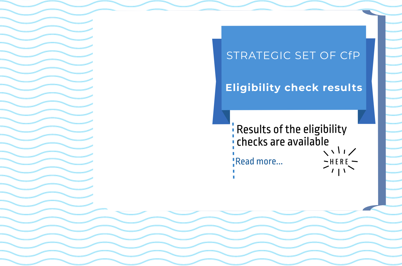 Eligibility results of the Strategic set of Calls for Proposals