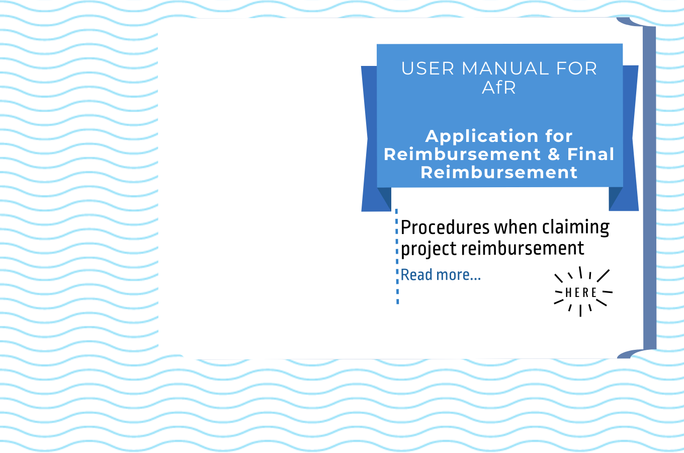 New User Manual - Application for Reimbursement & Final Reimbursement