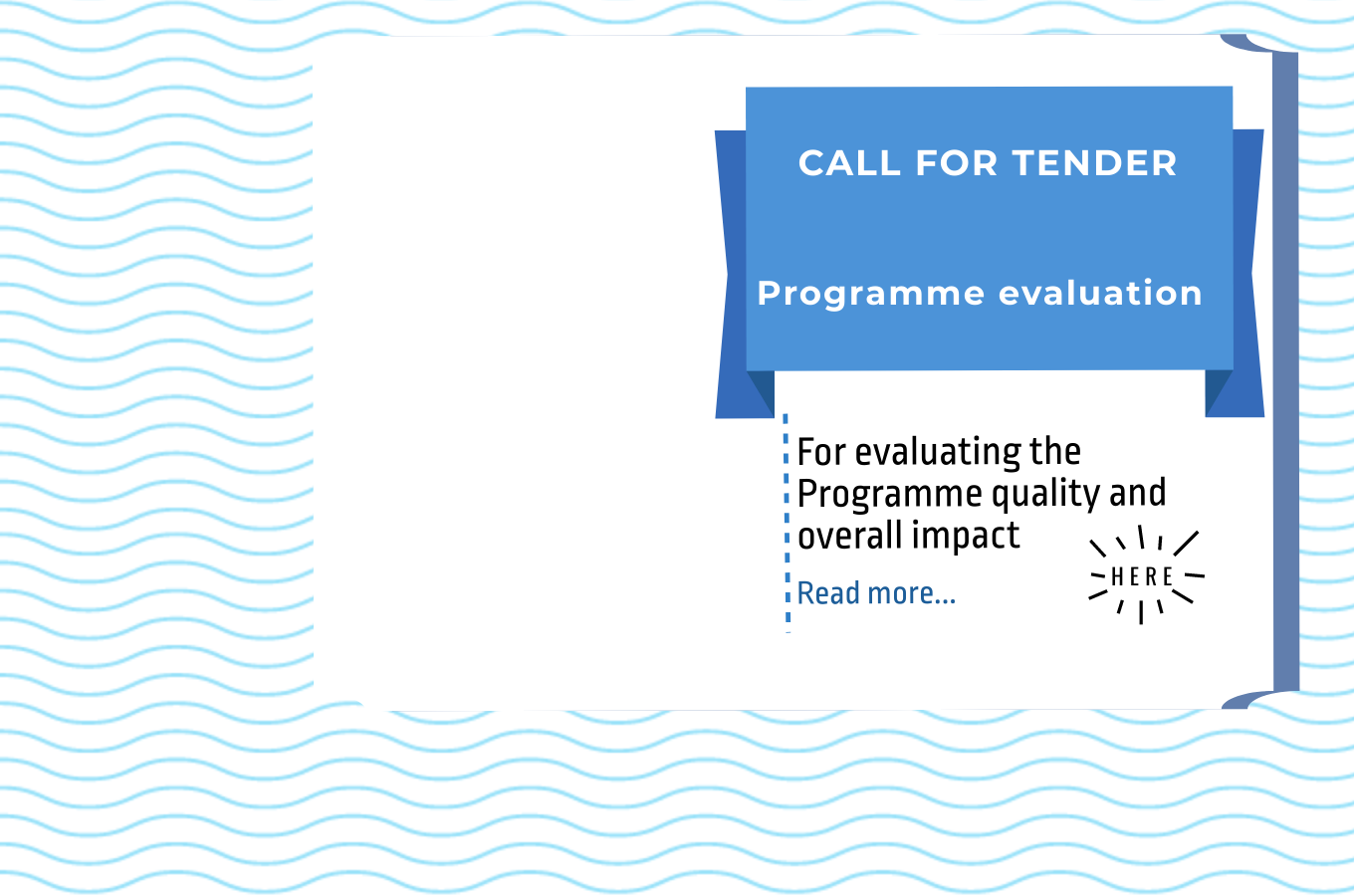 Call for Tender for the Evaluation Service of the Programme