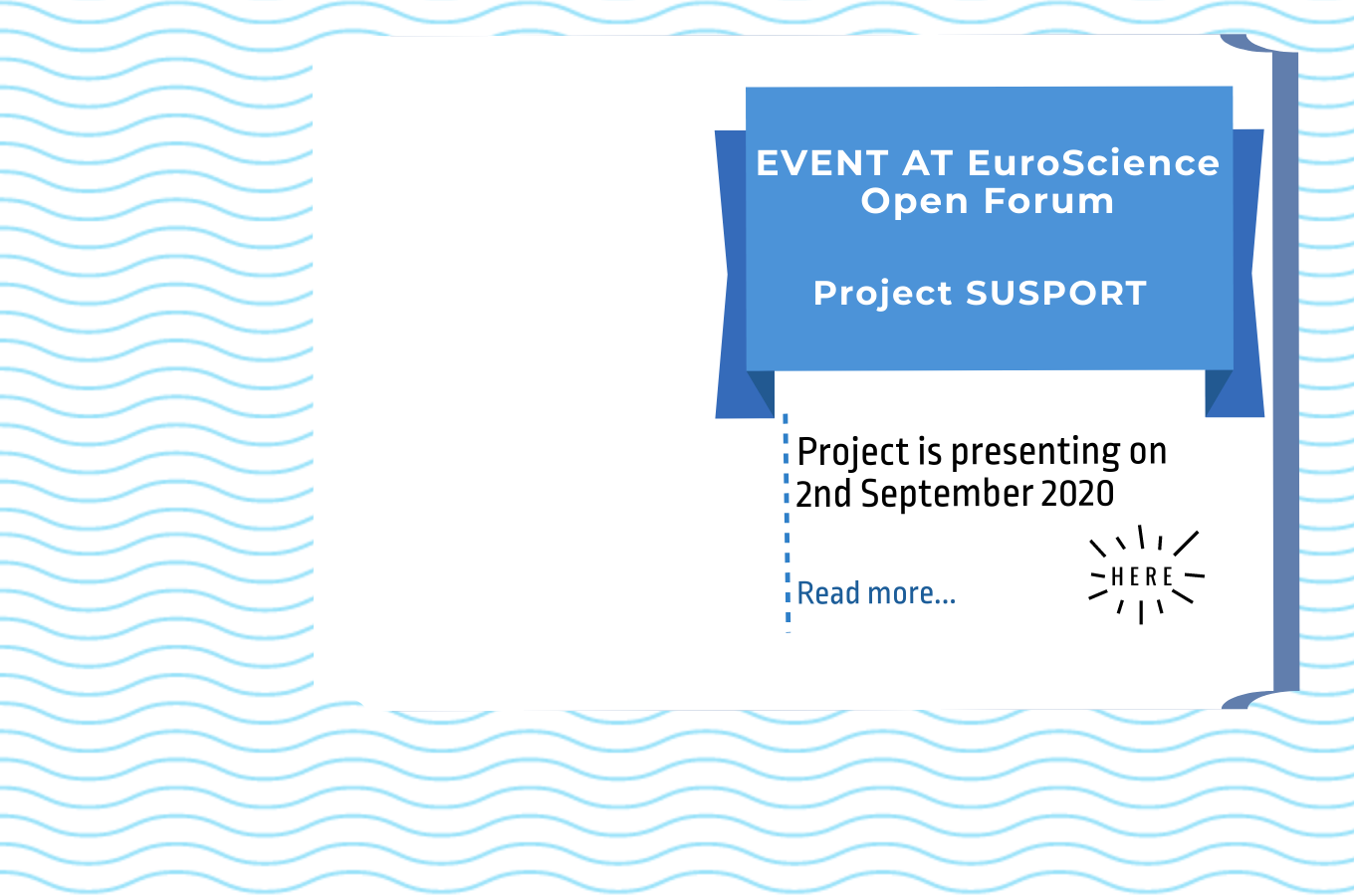 SUSPORT project at @ESOF