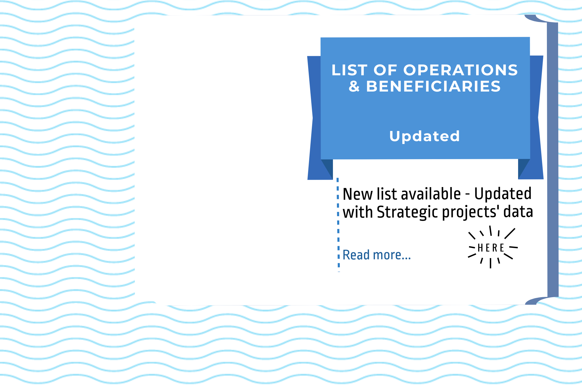List of Operations & Beneficiaries: latest update