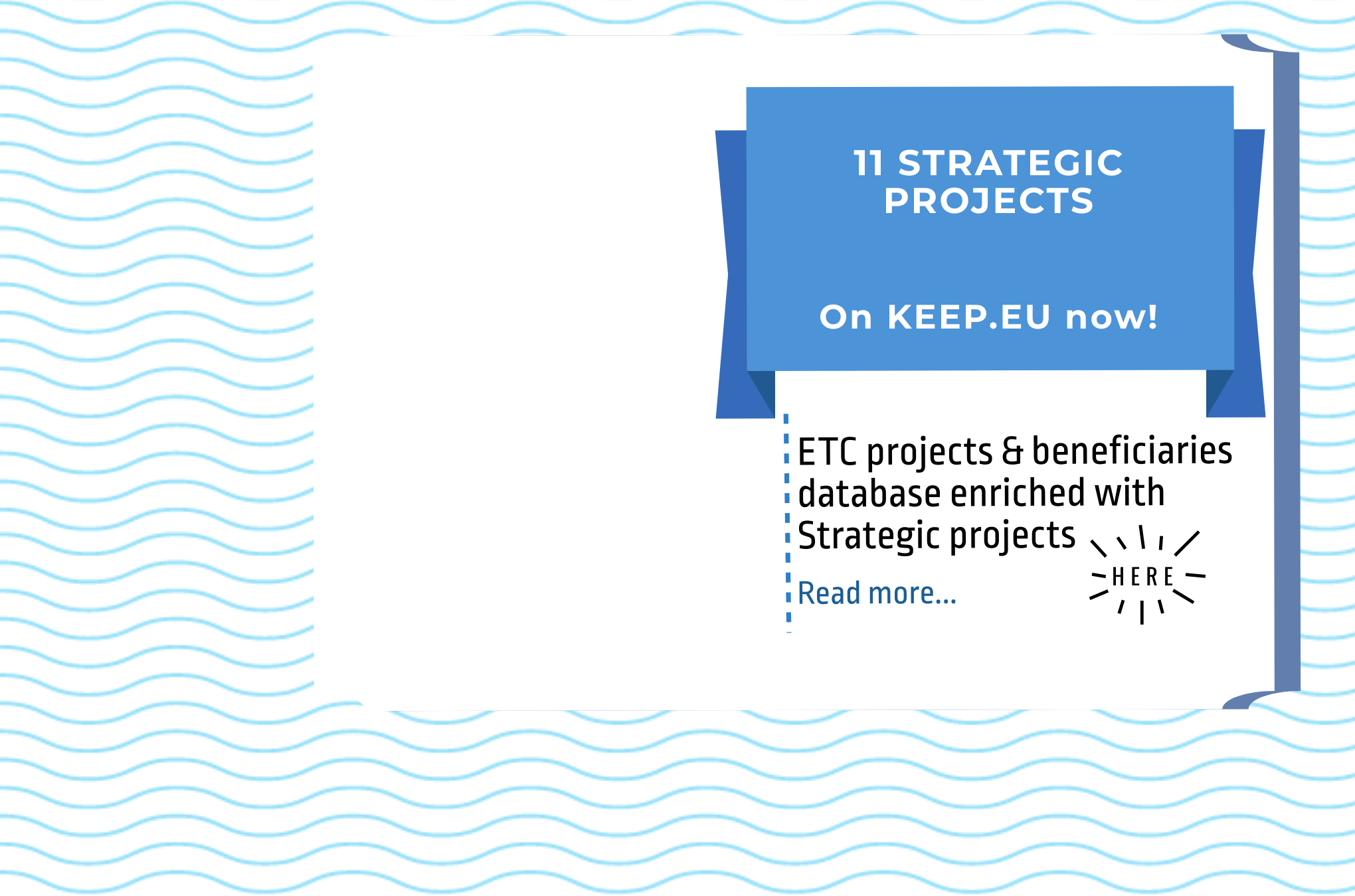 11 Strategic projects are available on Keep.eu