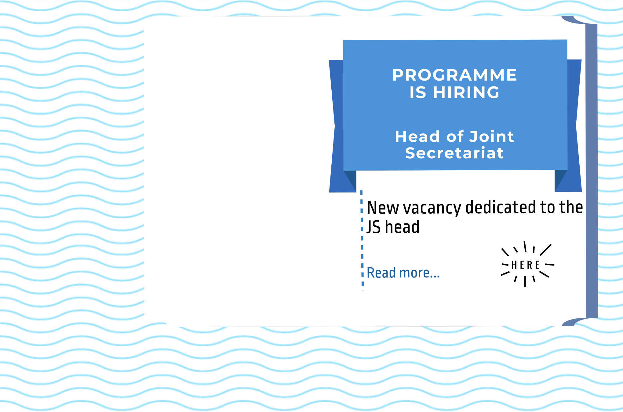 Programme is hiring the Head of Joint Secretariat