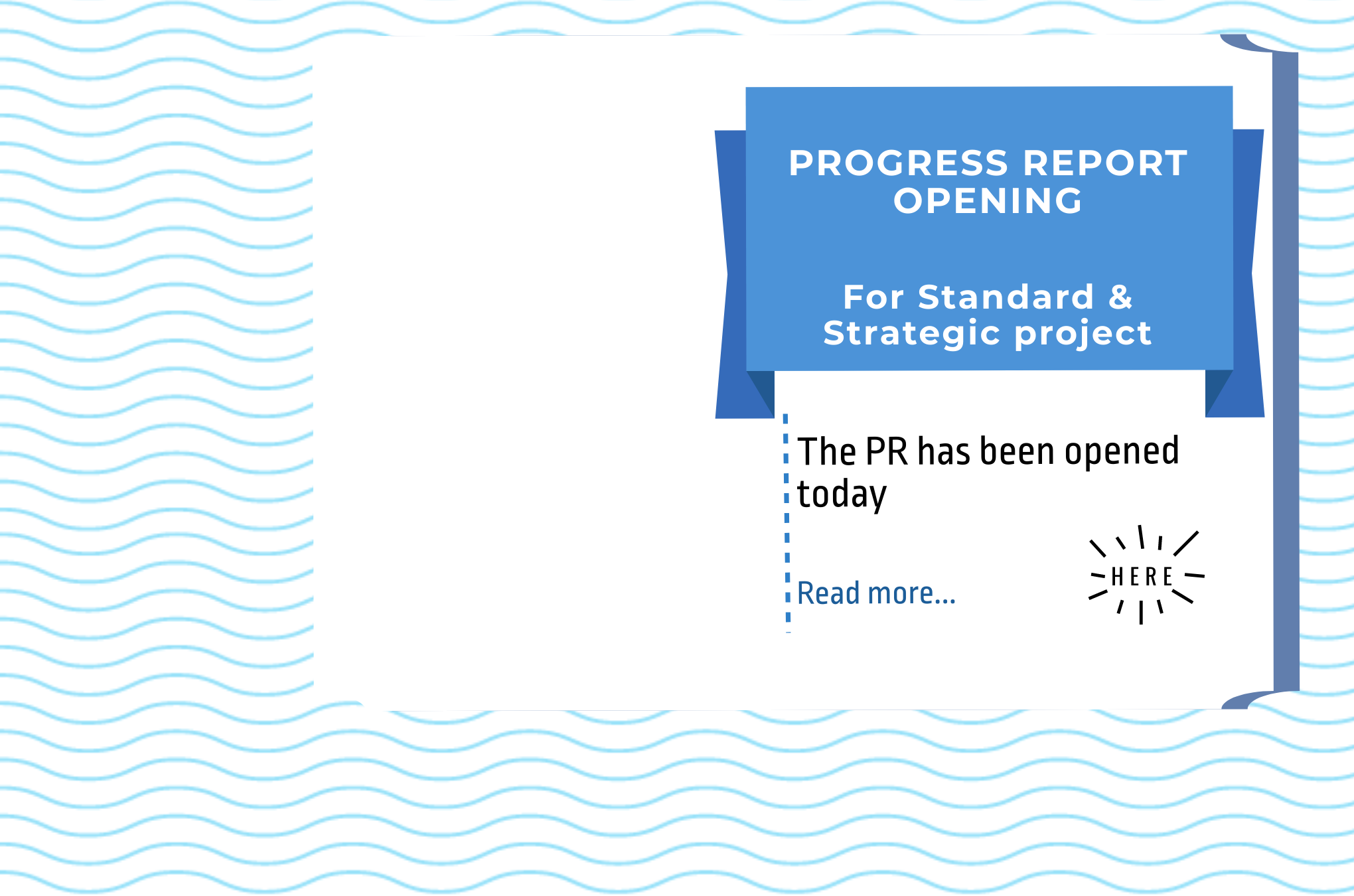 Progress Report: opened for Standard and Strategic projects