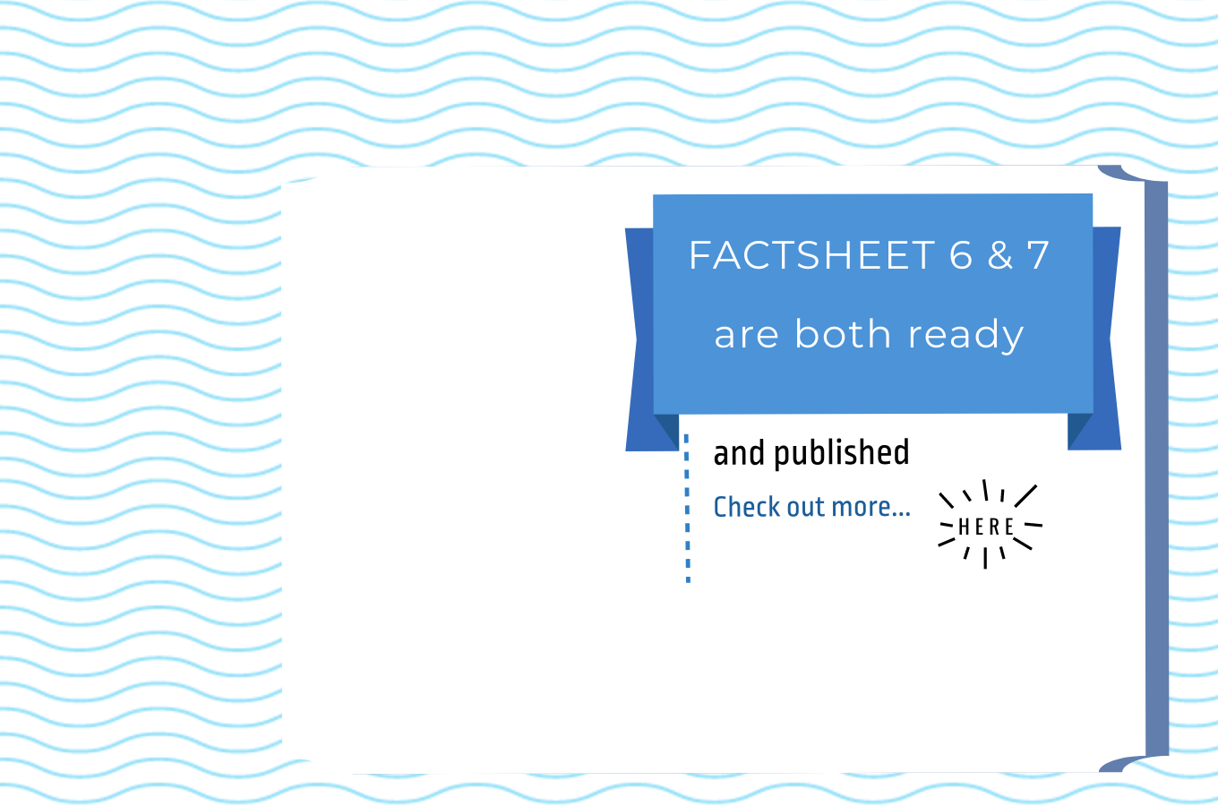 Factsheet 6 & 7: ready and published