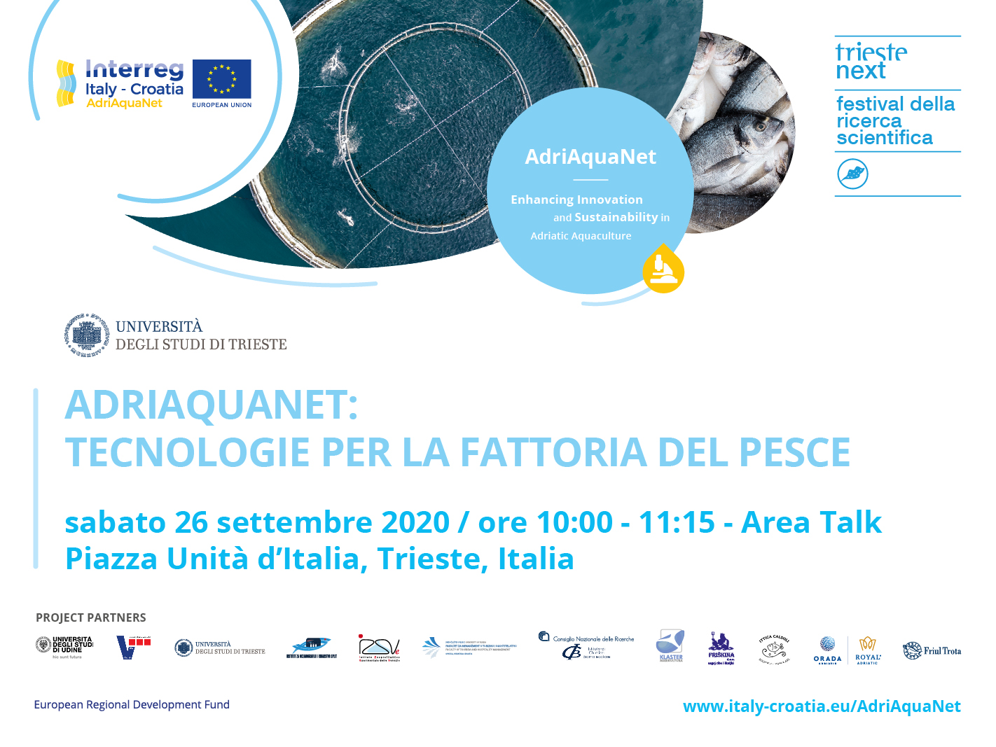 ADRIAQUANET - TECHNOLOGIES FOR THE FISH FARM AT TRIESTE NEXT 2020