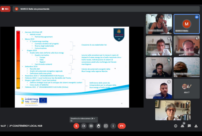 3rd virtual meeting of the local Coastal Energy Hub in the Marche region