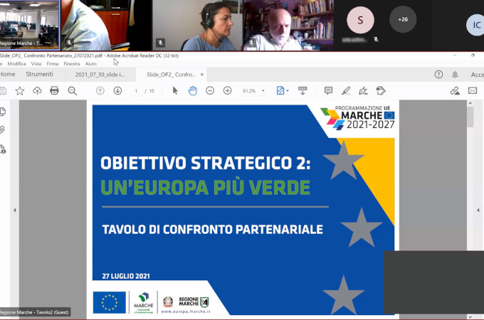 Blue Energy and programming of EU funds in the Marche Region