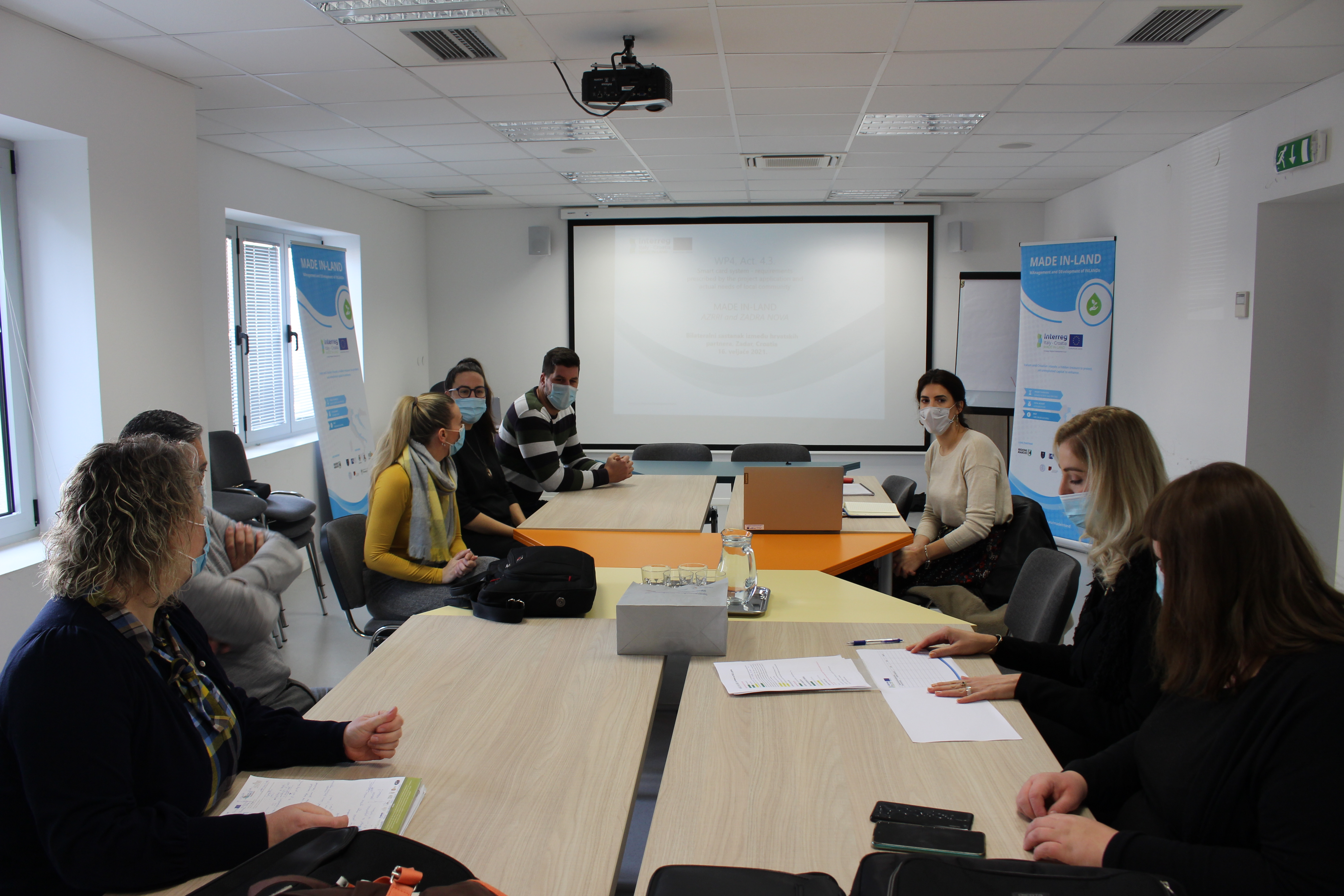 The project meeting was held on February 16, 2021 in Zadar between two project partners responsible for the implementation of the smart card system.