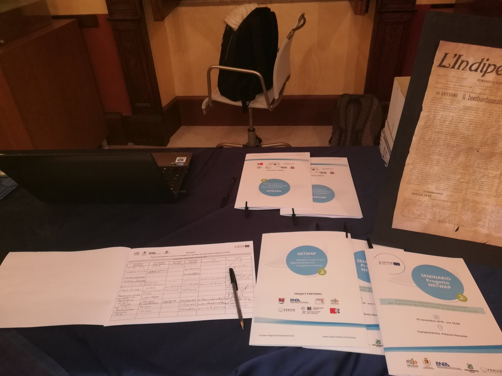 NETWAP project at the BlueMed Initiative