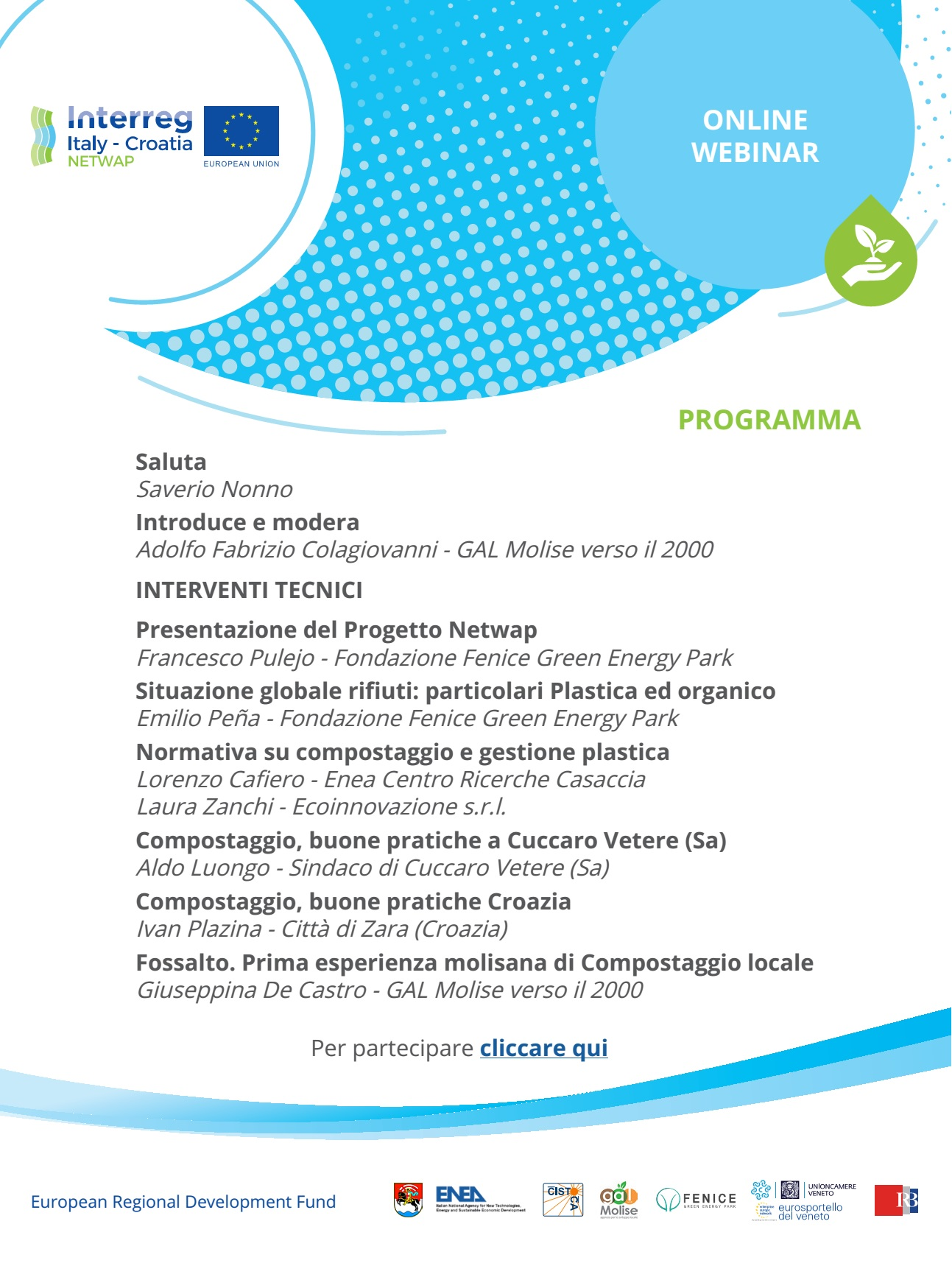 The sustainable management of plastic and organic waste in the municipalities of inland areas