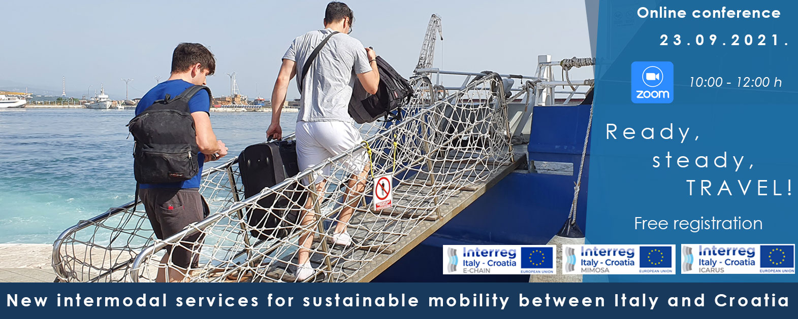 Online event: New Intermodal Services for Sustainable Mobility between Italy and Croatia