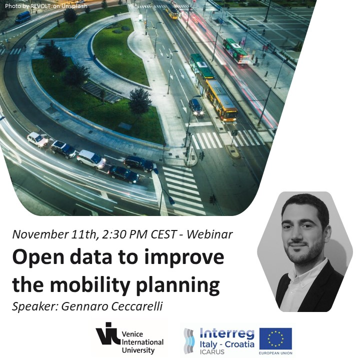 ICARUS 4th webinar: Open data to improve the mobility planning